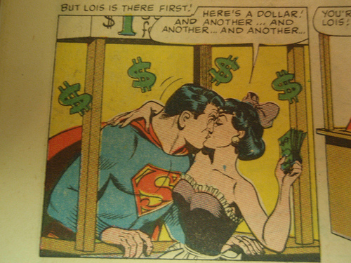 Superman kissing