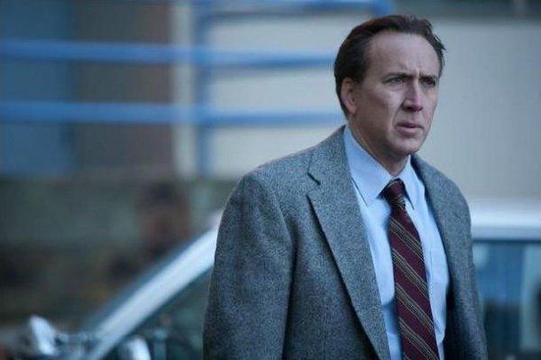 Pensive Nicolas Cage was pensive.