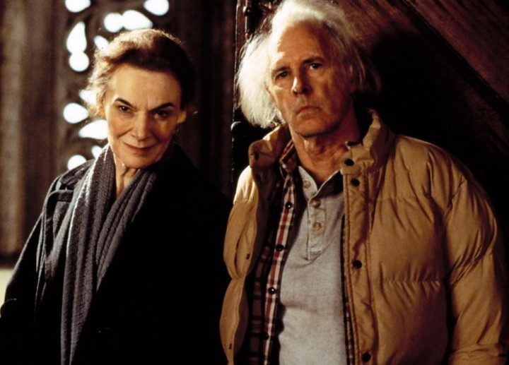 Ms Seldes with actor Bruce Dern, playing the Dudleys, in the 1999 film The Hauntng.