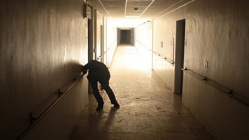 NOOOOOO!!!! The lights have come on in this darkened corridor!!!