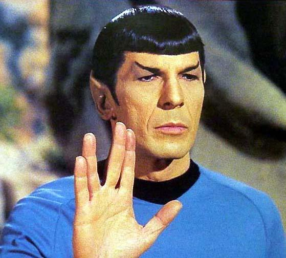 Leonard Nimoy as Spock, in Star Trek.
