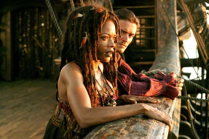 (L-R) NAOMIE HARRIS, ORLANDO BLOOM