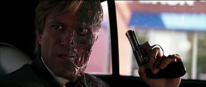 Aaron Eckhart's portrayl of Harvey Dent, in The Dark Knight.