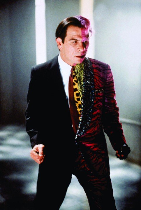 Tommy Lee Jones as Two Face, in Batman Forever.