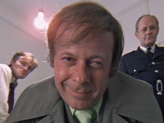 Aubrey Morris in his role in A Clockwork Orange, for Stanley Kubrick, in 1971.