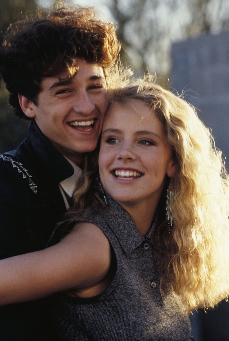 Amanda Peterson with co-star Patrick Dempsey in Can't Buy Me Love, 1987.