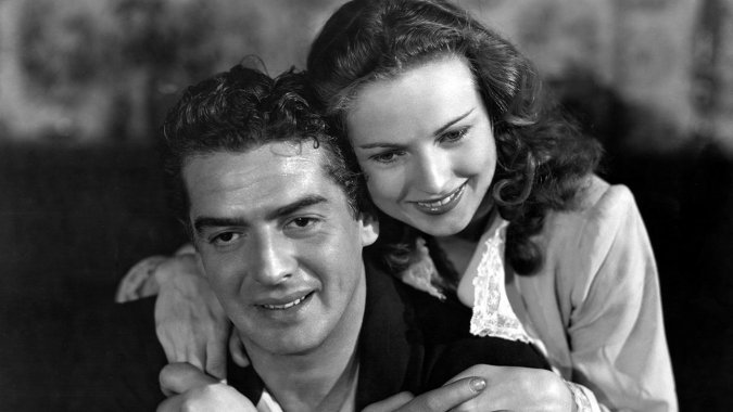 "Victor Mature and Coleen Gray in ""Kiss Of Death"", 1947."