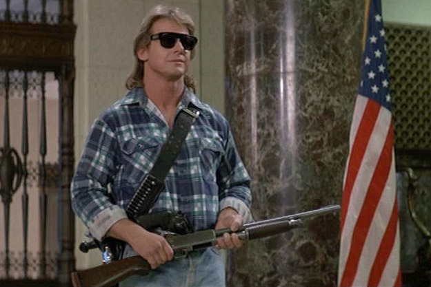 "Roddy Piper in John Carpenter's ""They Live"", 1988"