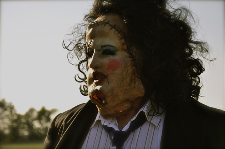 Gunnar Hansen as he appeared in 1974's The Texas Chainsaw Massacre.