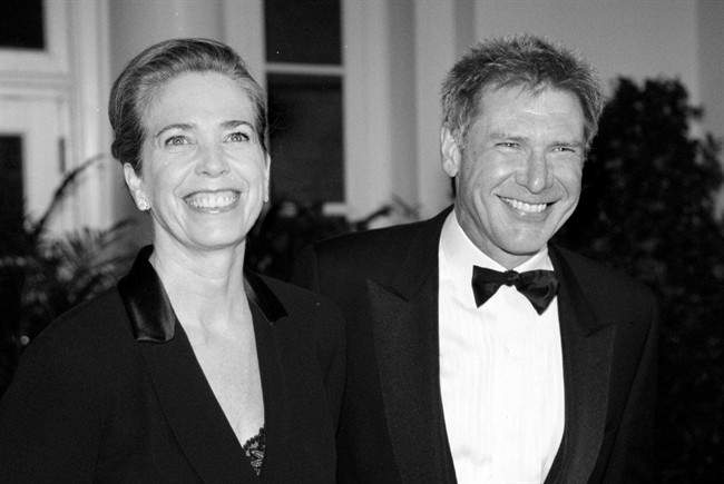 Ms Mathison (L) with actor and then-husband Harrison Ford (R).