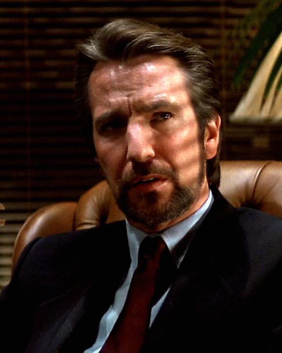 """Rickman as Hans Gruber in 1988's """"Die Hard"""""""
