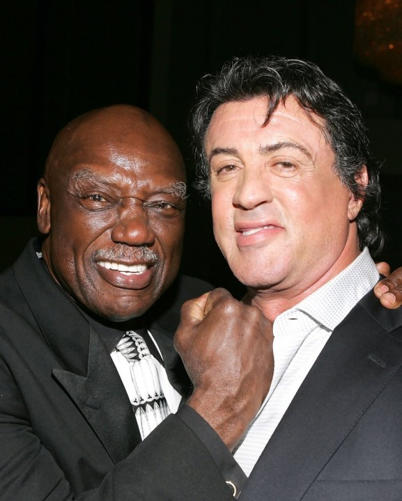 Tony Burton and Rocky co-star Sylvester Stallone.