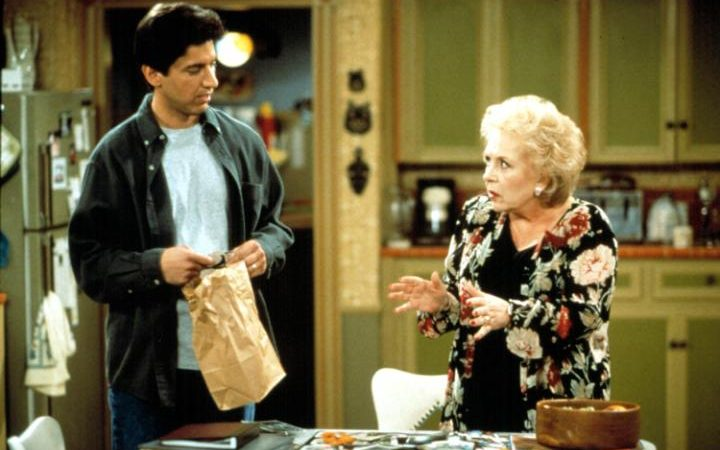 Ray Romano and Doris Roberts in a scene from Everybody Loves Raymond.