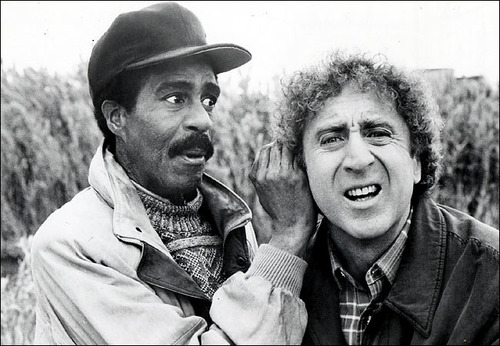 Richard Pryor (L) and Gene Wilder (R) appeared in a number of 80's comedies together.