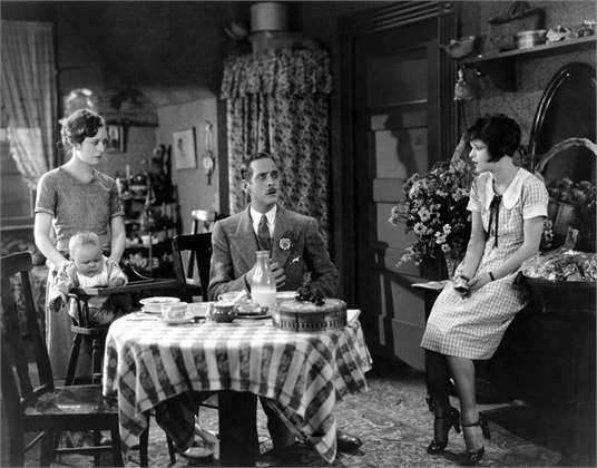 From left: Priscilla Bonner, William Austin, Clara Bow.